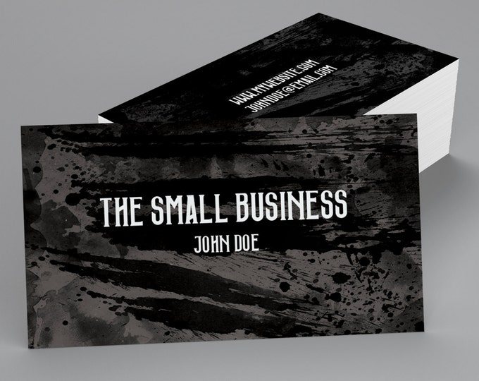 Custom Professional Business Cards - Black Paint