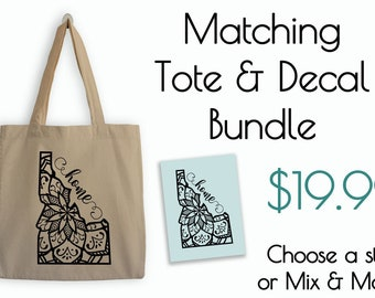 State Mandala Tote and Decal Bundle
