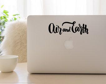 Air and Earth Vinyl Window Decal - Car Sticker