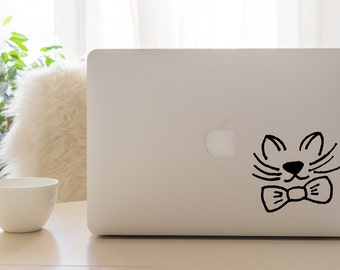 Cat with a Bow Tie Vinyl Decal
