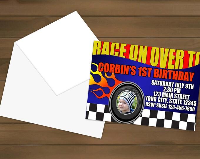 Race Car Birthday Invitations - Race Car Party - Racing Invitations - Birthday Party - Birthday Invitations - Racing Invitation - Race Car