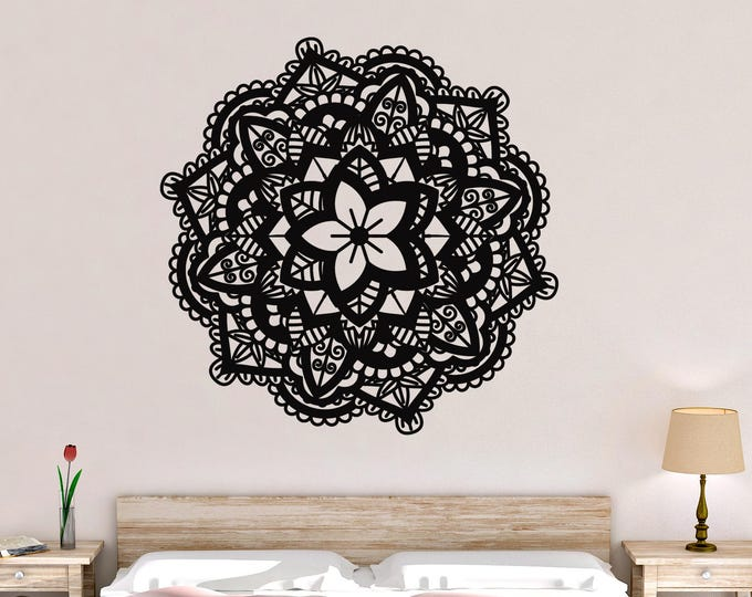 Flower Mandala Vinyl Wall Decal
