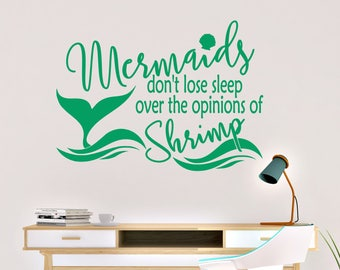 Mermaids Don't Lose Sleep Vinyl Wall Decal