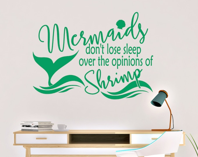 Mermaids Don't Lose Sleep Vinyl Wall Decal