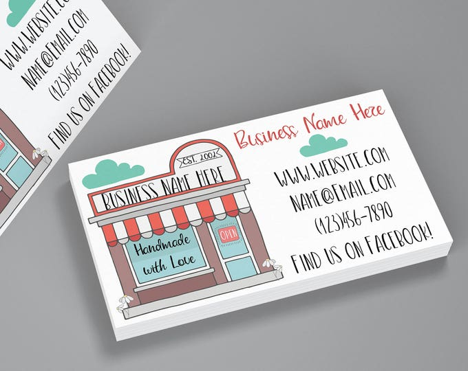 Business Cards - My Shop Business Cards - My Shop - Retailer Business Cards - Small Business - Small Business Cards - Cute Cards - Branding