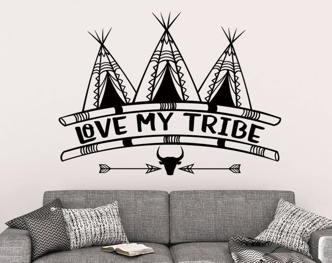 Love My Tribe Vinyl Wall Decal