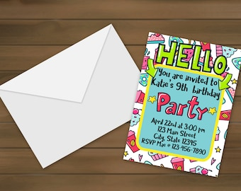 Hello Birthday Invitations