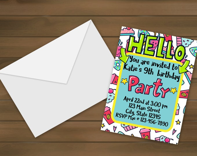 Hello Birthday Invitations