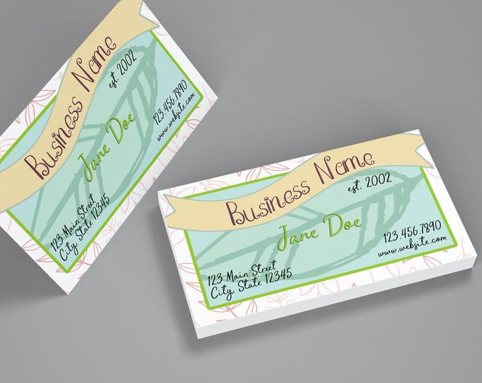 Garden Floral Business Cards