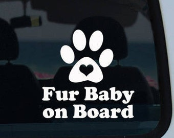 Fur Baby On Board Decal