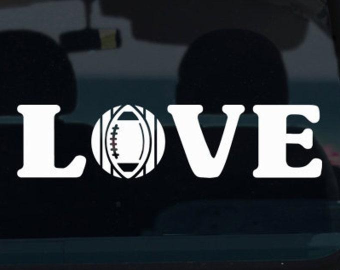 Football Love Vinyl Window Decal