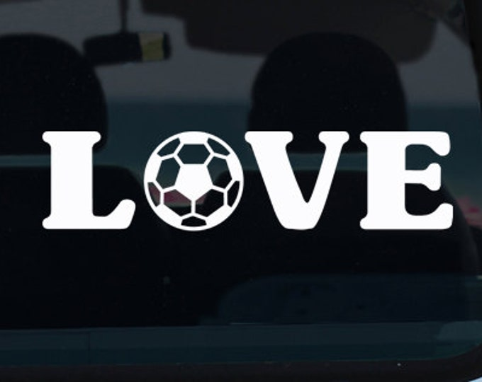 Soccer Love Vinyl Decal