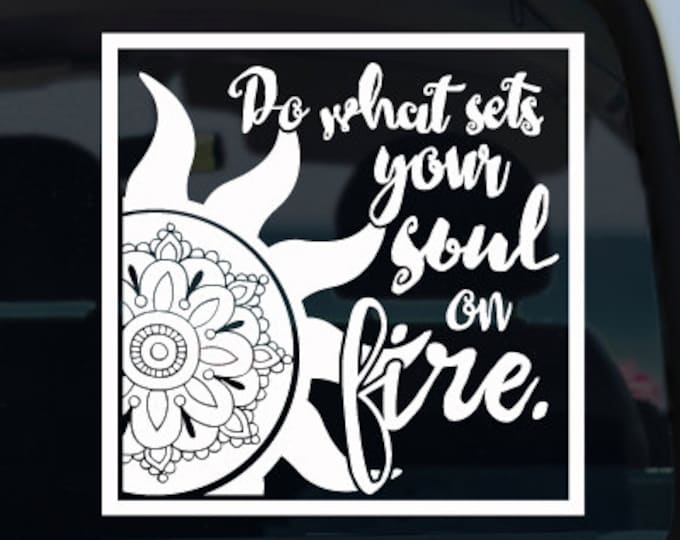 Sun Soul on Fire Vinyl Decal