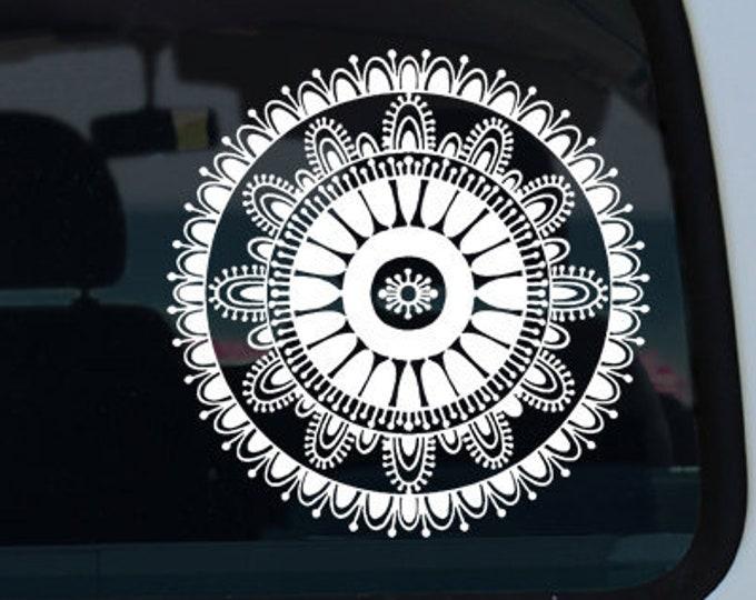 Mandala Vinyl Window Decal