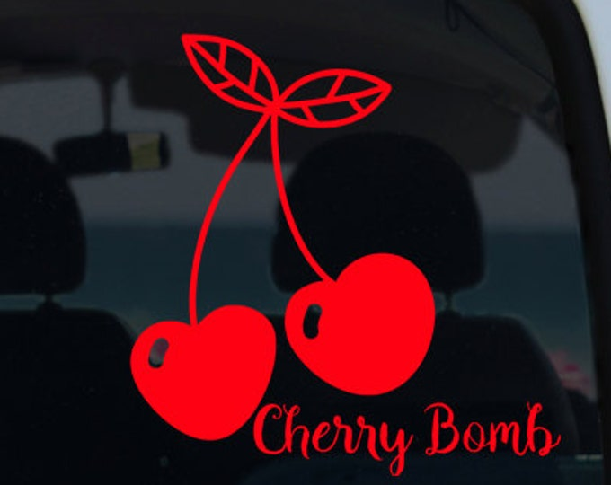 Cherry Bomb Cherry Decal