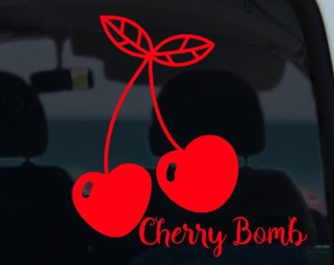 Cherry Bomb Cherry Vinyl Decal