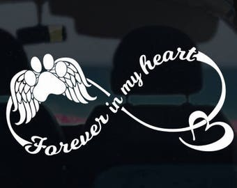 Forever in My Heart Pet Memorial Decal