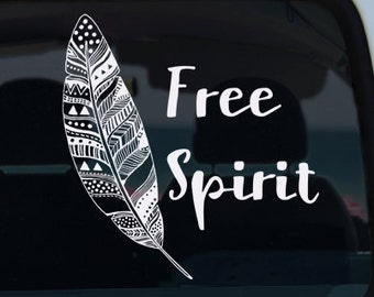 Free Spirit Boho Vinyl Decal