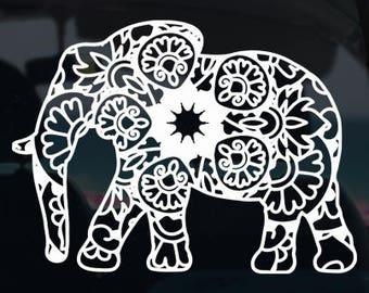 Elephant Mandala Decal