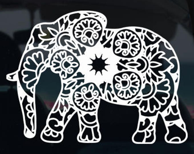 Elephant Mandala Decal