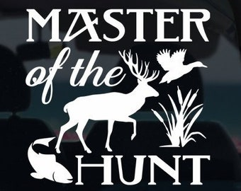 Master of the Hunt Vinyl Decal