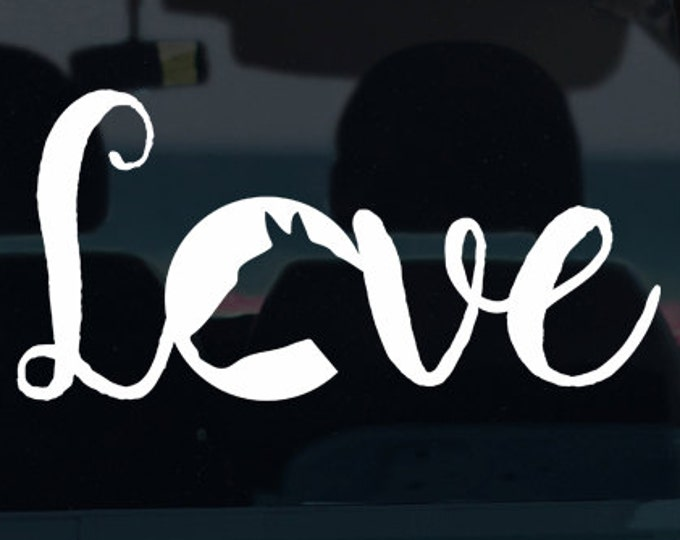 Horse Love Decal