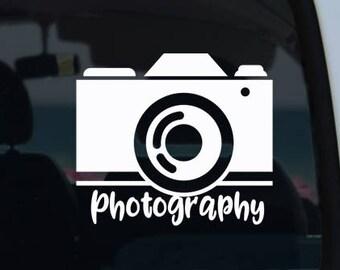 Photography Vinyl Window Decal - Car Decal - Camera Decal - Photographer Decal - Photography Decal - Camera - Photography - Decal