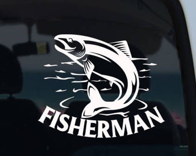 Fishing Vinyl Decal Sticker - Car Decal - Fish Decal - Fisherman Car Decal - Fish - Fishing Decal - Vinyl Decal - Decals - Window Decal