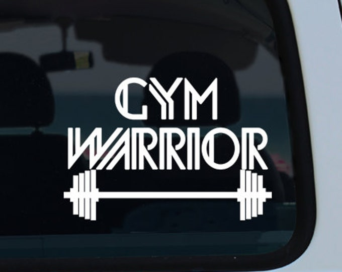 Gym Warrior Vinyl Window Decal - Car Sticker - Car Decal - Gym Warrior - Gym Decal - Fitness Decal - Gym - Decal - Vinyl Decal - Weights