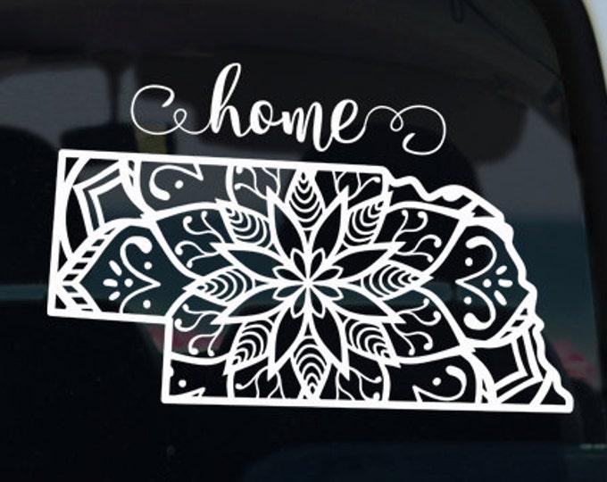 Nebraska State Mandala Vinyl Decal Sticker - Car Sticker - Nebraska Car Decal - State Car Decal - Mandala - Car Decal