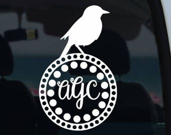 Bird Monogram Decal