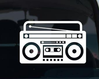 Stereo Boombox Vinyl Decal