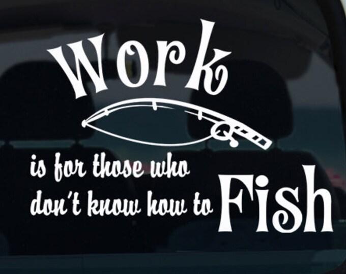 Fishing Vinyl Window Decal - Car Sticker - Car Decal - Fishing Rod - Fishing Decal - Car Decal - Fishing - Decal - Fisherman Decal - Vinyl