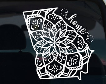 Georgia State Mandala Vinyl Decal