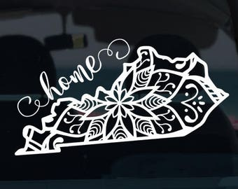 Kentucky State Mandala Decal