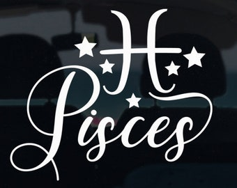 Pisces Zodiac Decal