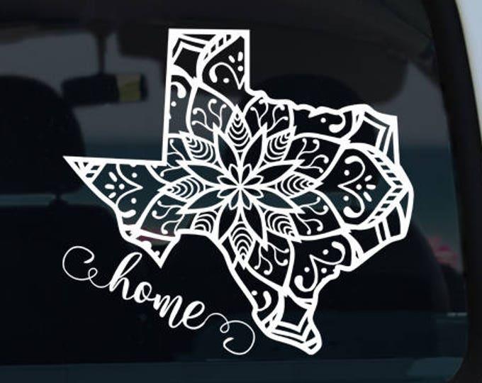Texas State Mandala Decal