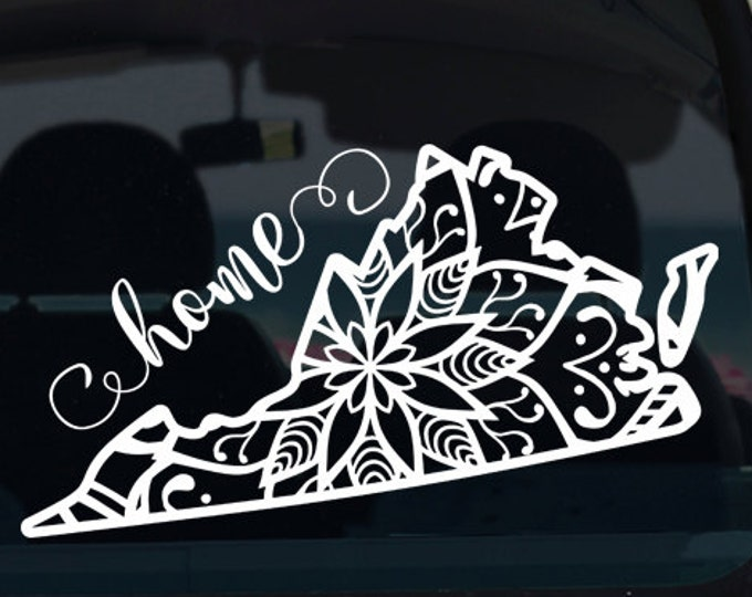 Virginia State Mandala Decal