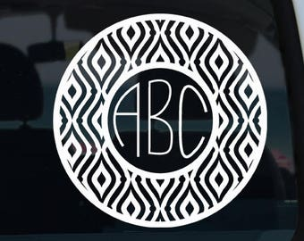 Wave Pattern Monogram Decal