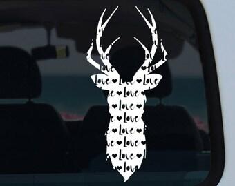 Deer Love Vinyl Window Decal