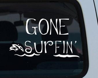 Gone Surfing Vinyl Decal
