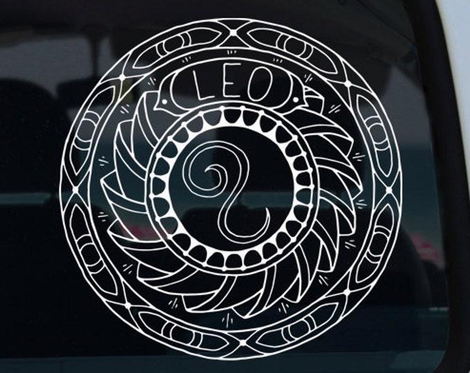 Leo Mandala Decal