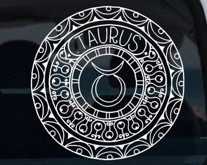 Taurus Decal - Zodiac Sticker - Car Decal - Astrology Decal - Zodiac - Taurus - Taurus Decal - Zodiac Decal - Zodiac - Taurus Mandala