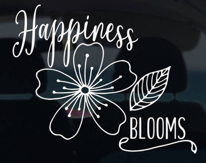 Happines Blooms Decal