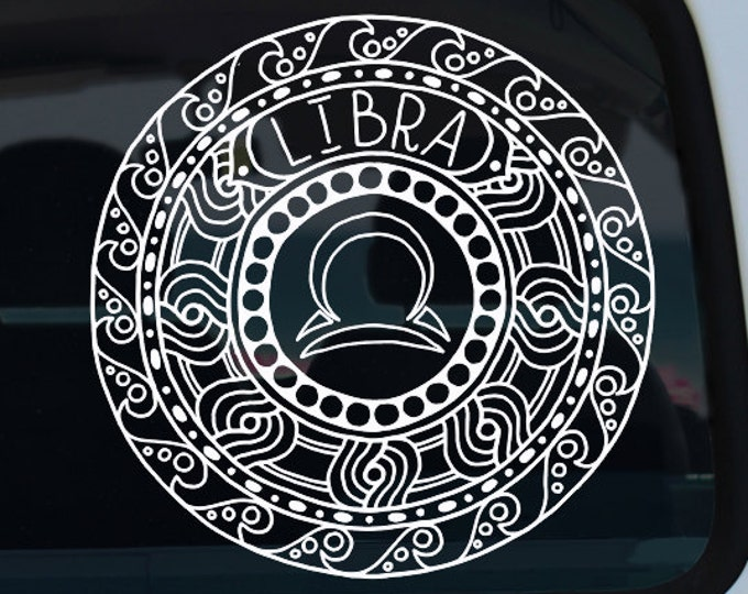 Libra Zodiac Mandala Decal
