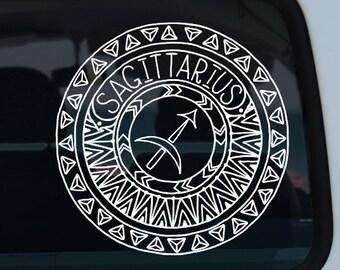 Sagittarius Zodiac Mandala Decal