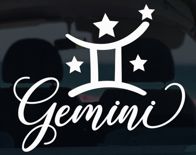 Gemini Zodiac Decal