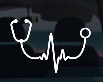 Doctor Nurse Heartbeat Vinyl Decal