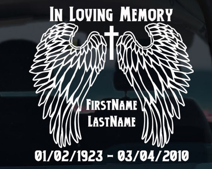In Loving Memory Memorial Decal