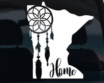 Minnesota Dream Catcher Vinyl Decal